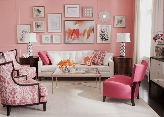 Coral-crush-in-the-backdrop-gives-the-small-living-area-a-glamorous-makeover